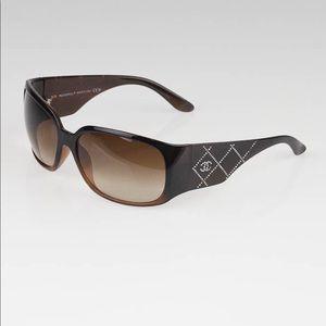 58467f1c2a56a3 Women's Chanel Sunglasses Swarovski Crystals on Poshmark